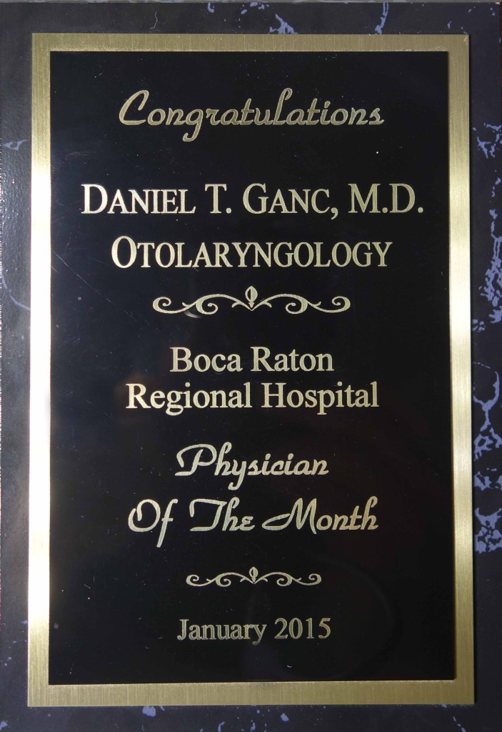 Daniel Ganc, MD - Boca Raton Regional Hospital - Physician of Month - Jan 2015